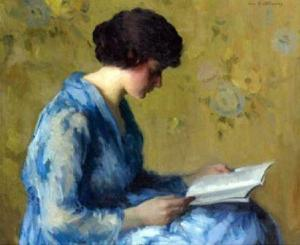 Painting Woman Reading