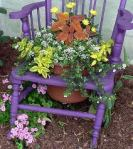 chair planter similar to one by Marcia Richards